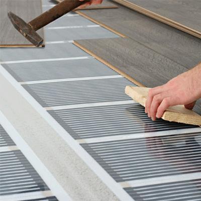 padlófűtés- elektromos infra fűtőfólia
